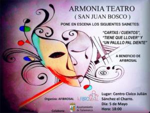 Armonia Teatro pone en escena tres Sainetes en beneficio de Afibrosal