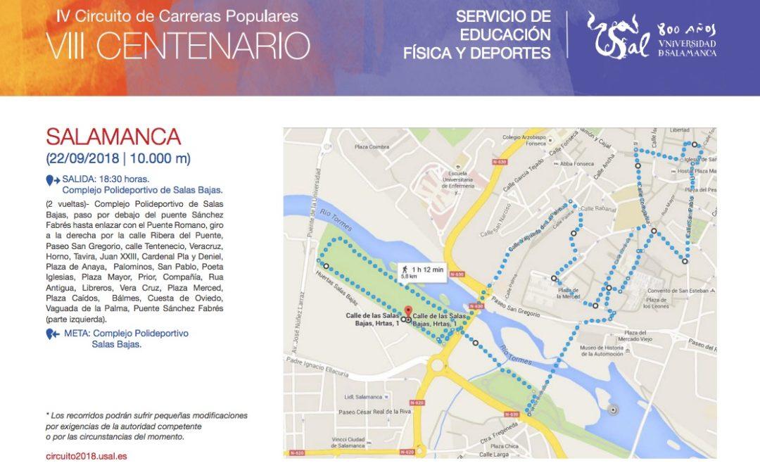 Carrera VIII CENTENARIO Universidad de Salamanca