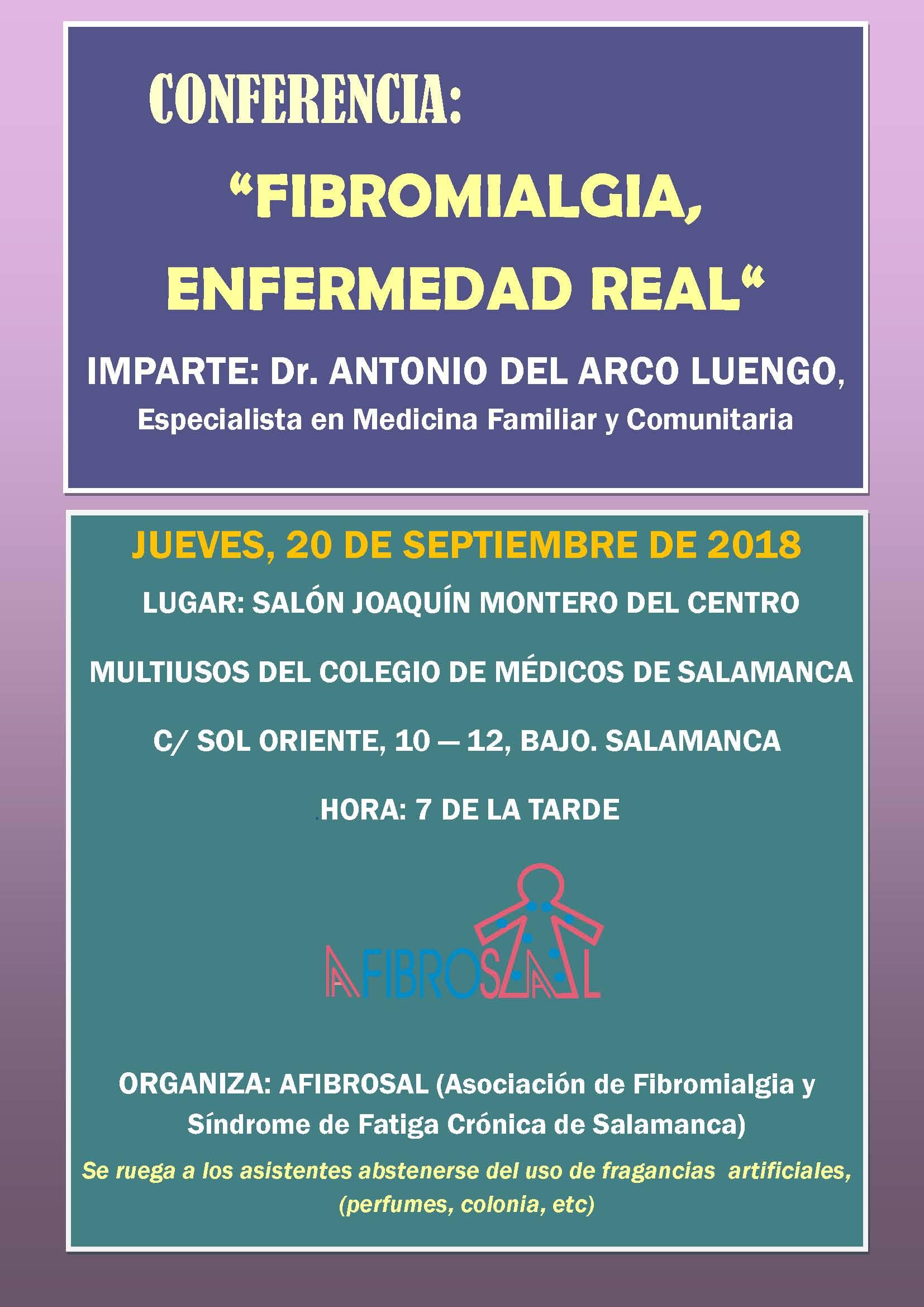 """Conferencia: """"Fibromialgia, enfermedad real"""""""
