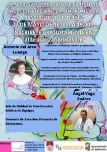 IV Webinar Creación de la Unidad Multidisciplinar  en Síndromes de Sensibilidad General